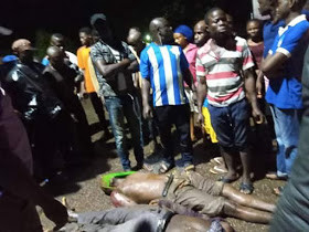 Tipper truck crushes two men to death in Nnewi (graphic photos)