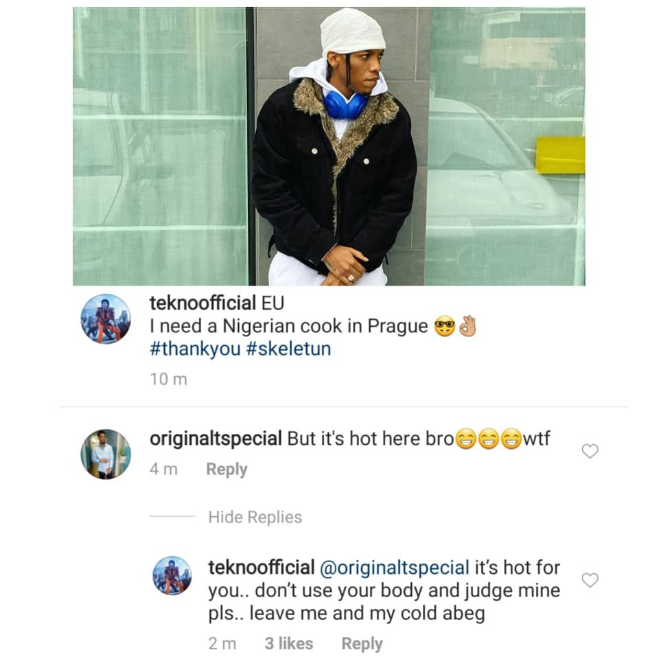Between Tekno and an IG Fashion police