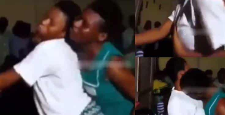 Video of female secondary school students caught caressing each other