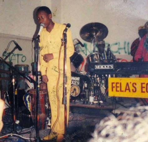 Seun Kuti shares epic throwback photo says, calls veteran journalist?Charles Okogene a